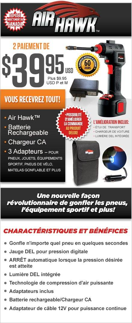 Commandez Air Hawk™ Maintenant!
